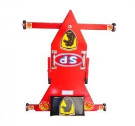 Brinquedo Tradicional Carrinho de Rolimã de Madeira Vermelho Ferrari