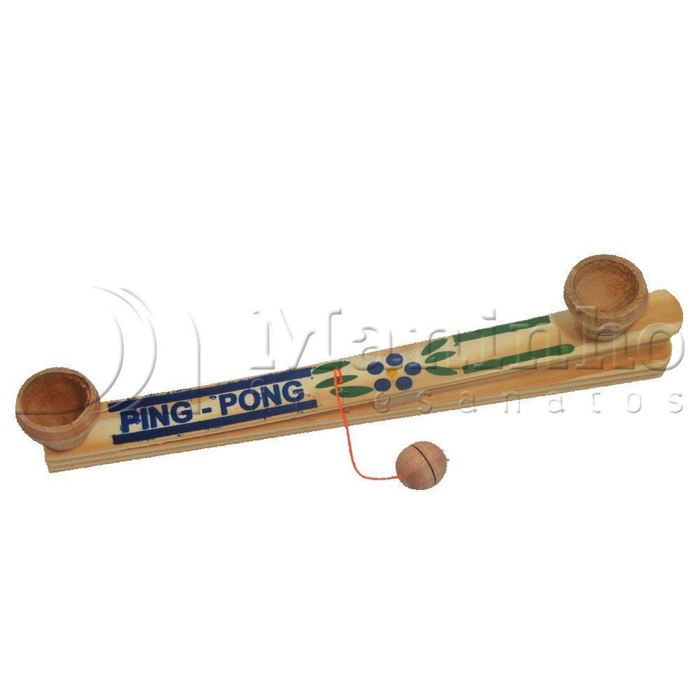Brinquedo Tradicional de Madeira Ping Pong