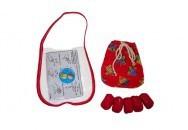 Brinquedo Tradicional de Pano Cinco Marias Na Bolsinha de Mão