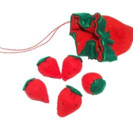 Brinquedo Tradicional em Tecido Jogo Cinco Marias de Moranguinho