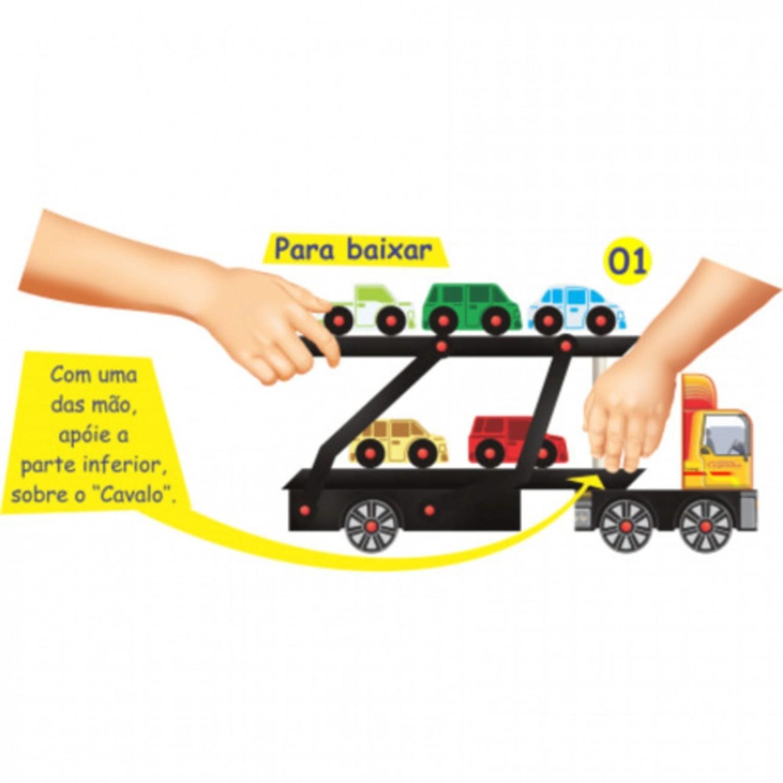 Caminhão Cegonha Brinquedo de Madeira