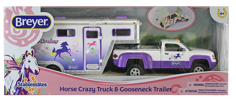 Caminhão com carreta para cavalo Horse Crazy Truck and Trailer Breyer