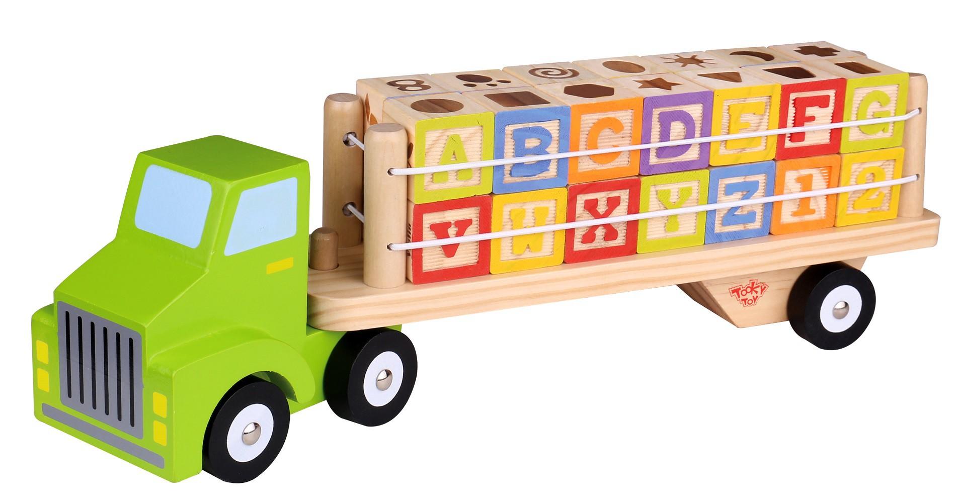 Caminhão de Madeira Alfabeto e Números