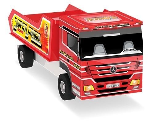 Caminhão de Madeira Caçamba Cores Sortidas