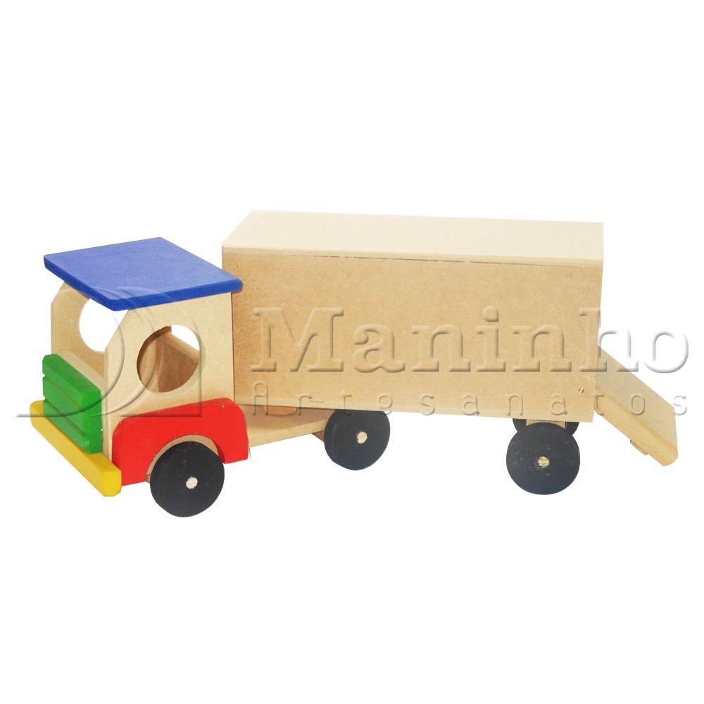 Caminhão de Madeira Caminhão Baú