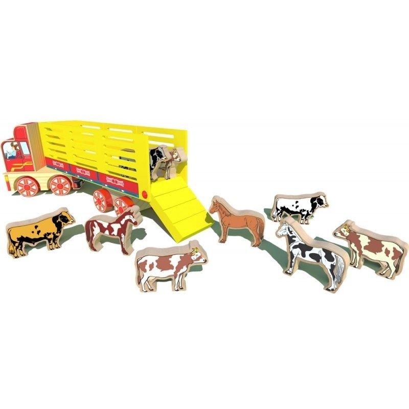 Caminhão Boiadeiro Brinquedo de Madeira