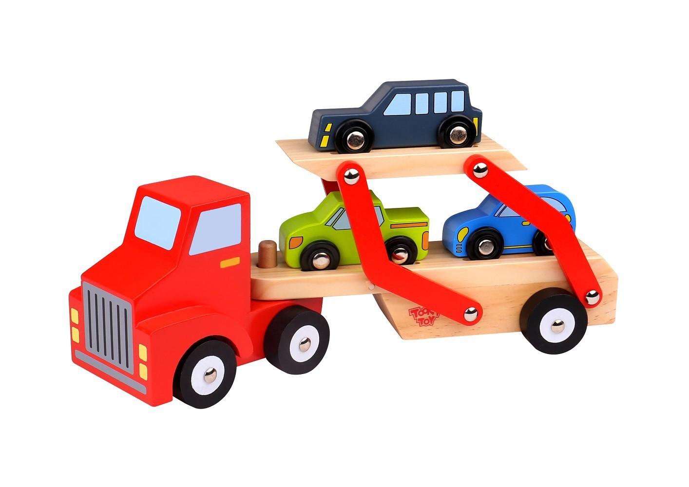 Caminhão de Madeira Caminhão Cegonha com Carrinhos