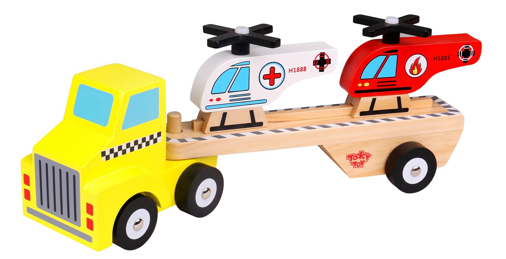 Caminhão de Madeira Caminhão com Helicópteros