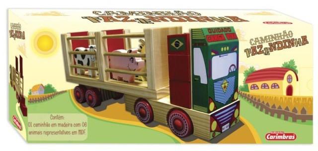 Caminhão de Madeira Caminhão Fazendinha