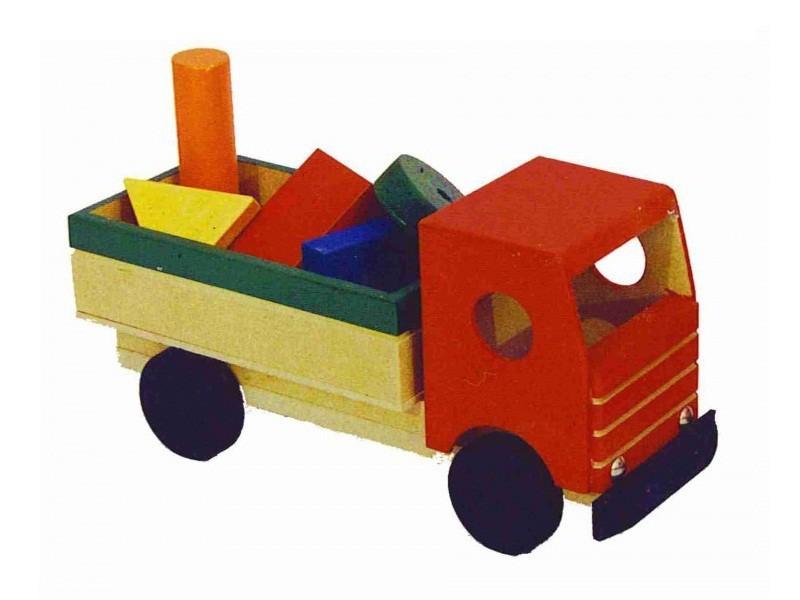 Caminhão de Madeira Caminhão Figuras geométricas