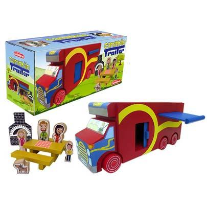 Caminhão Trailer Brinquedo de Madeira