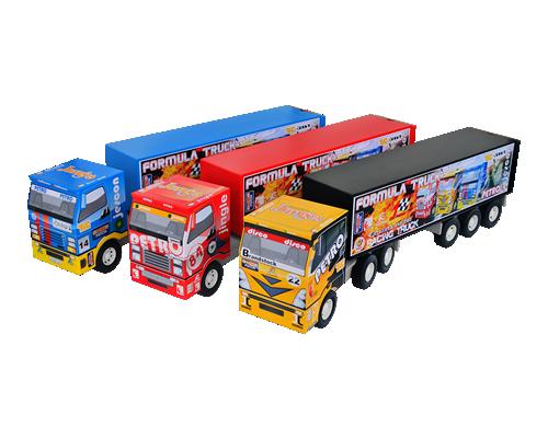 Caminhão de Madeira Scania Furgão Cores Sortidas