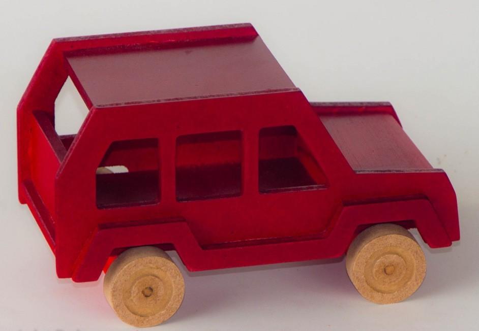 Carrinho de Madeira Carro SUV
