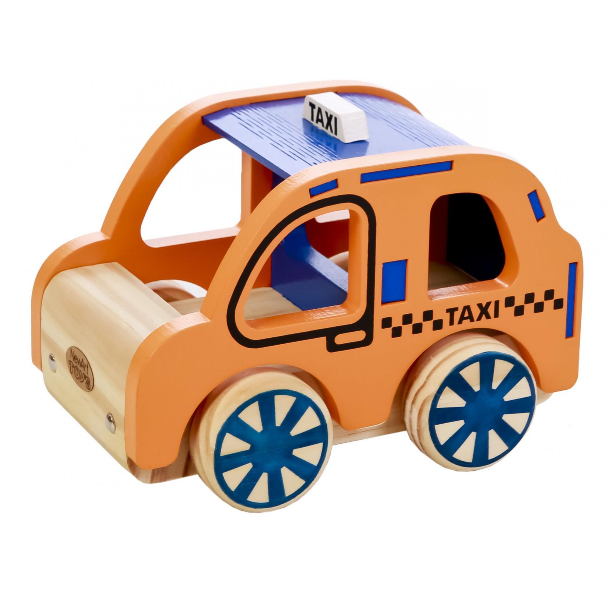 Carrinho de Madeira Coleção Carrinhos Táxi