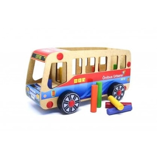 Carrinho de Madeira Ônibus Urbano