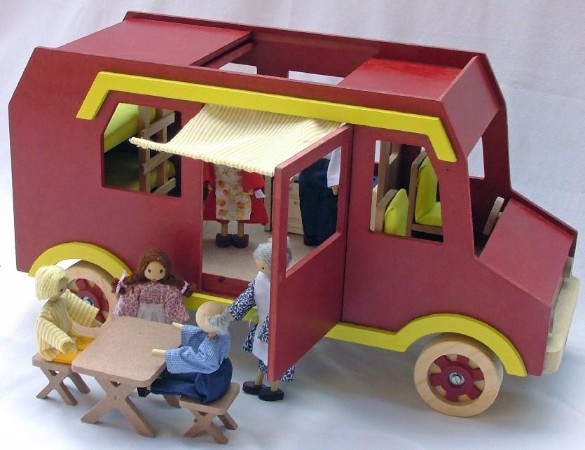 Carro de Madeira Trailer com Acessórios
