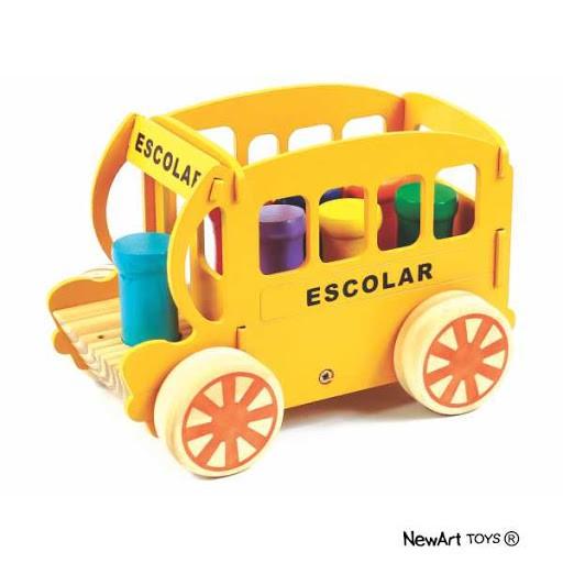 Carro Educativo de Madeira Bondinho Escolar