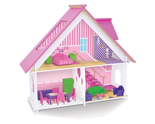 Casinha de Boneca de Madeira Casa de Bonecas Sweet Home