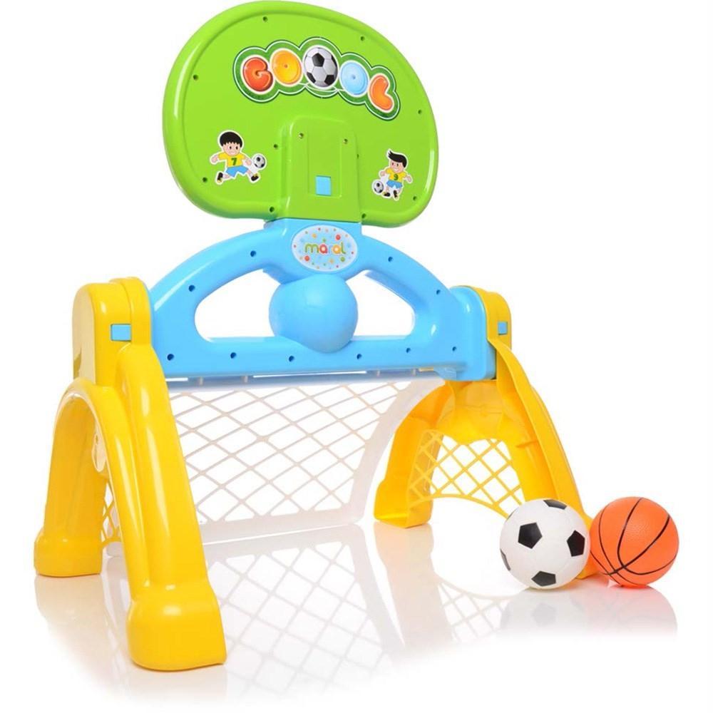 Centro Esportivo 2 em 1 Basquete e Futebol Infantil