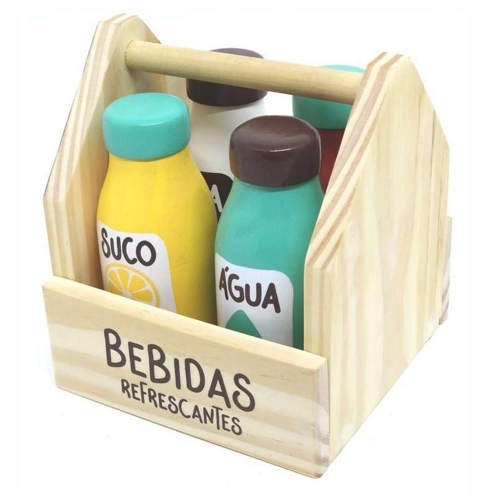 Coleção Comidinhas de Madeira  Kit Bebidas Refrescantes