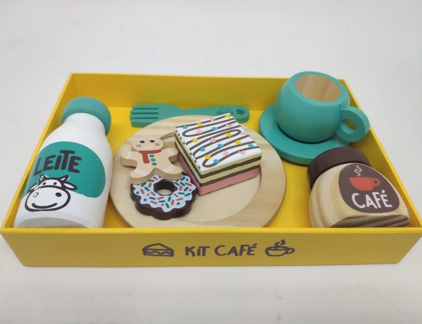Coleção Comidinhas Kit Café Comidinha de Madeira