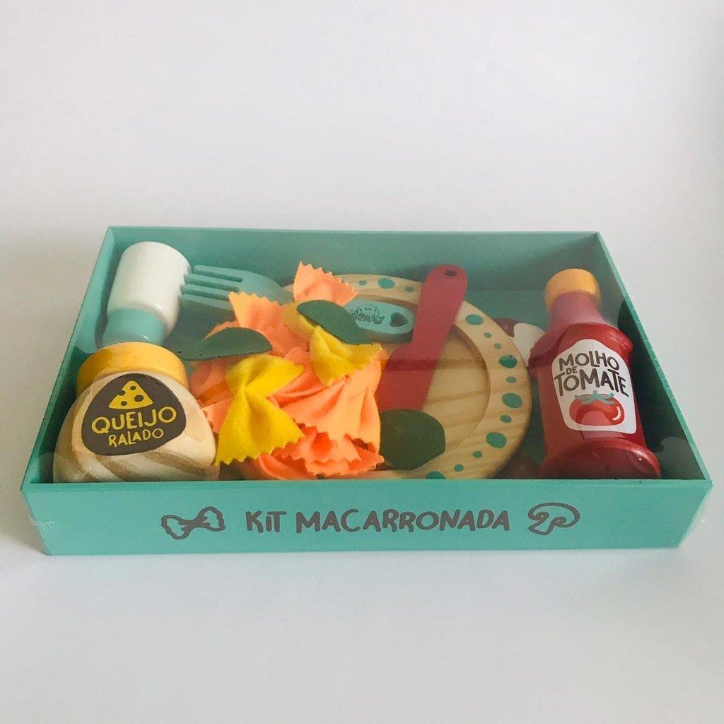Comidinha de Madeira Coleção Comidinha Kit Macarronada