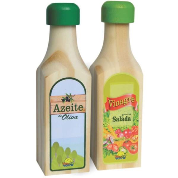 Comidinha de Madeira Coleção Comidinhas - Azeite e Vinagre
