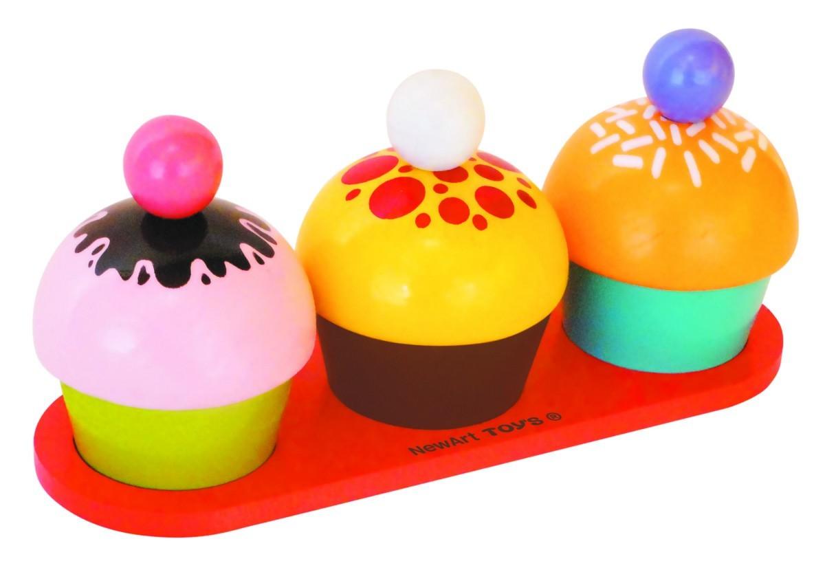 Comidinha de Madeira Coleção Comidinhas Cupcakes