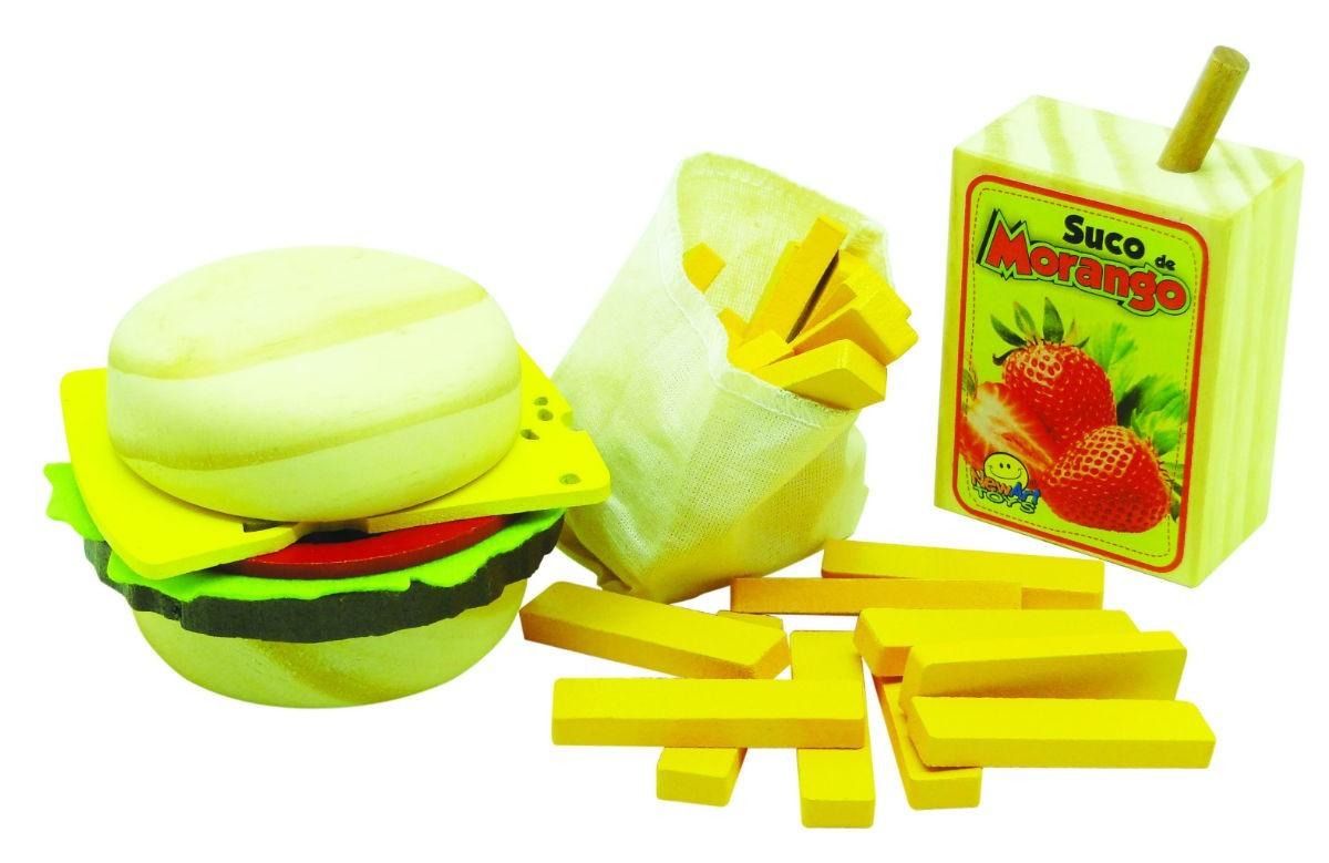 Comidinhas de Madeira Coleção Comidinhas Kit Sanduíche
