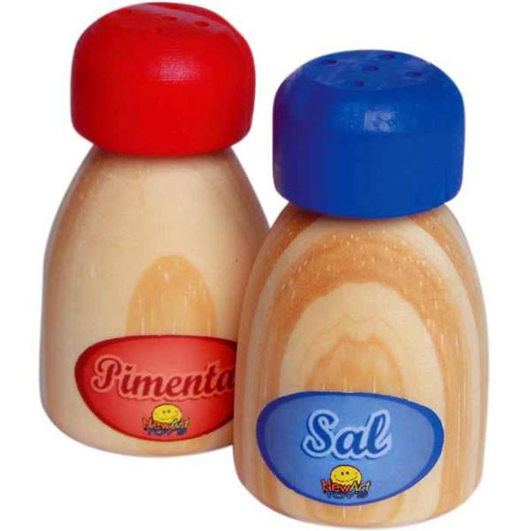 Comidinhas de Madeira Coleção Comidinhas Sal e Pimenta