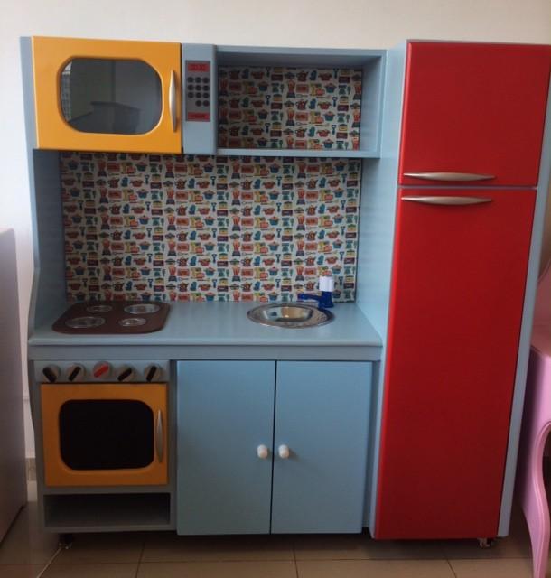 Cozinha de Madeira Grande Completa para Casinha Infantil