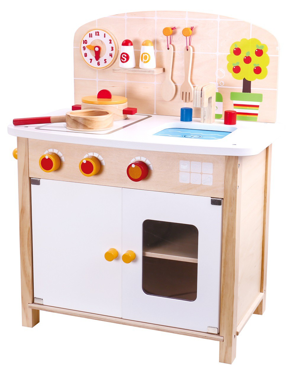 Cozinha de Madeira para casinha Infantl Cozinha Neutra