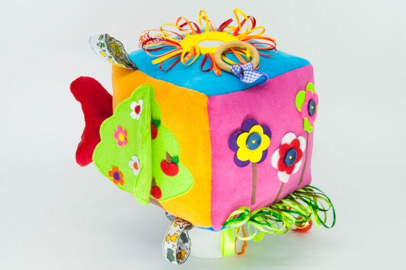 Cubo Color de Tecido Brinquedo de Pelucia