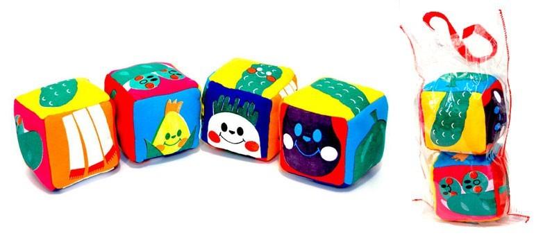 Cubo Quebra Cabeça de Tecido e Espuma com 2 peças Brinquedo de Pelúcia