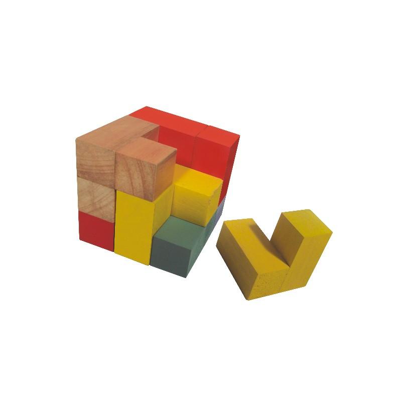 Desafio de Madeira Mosaico Cubo P com 7 pçs