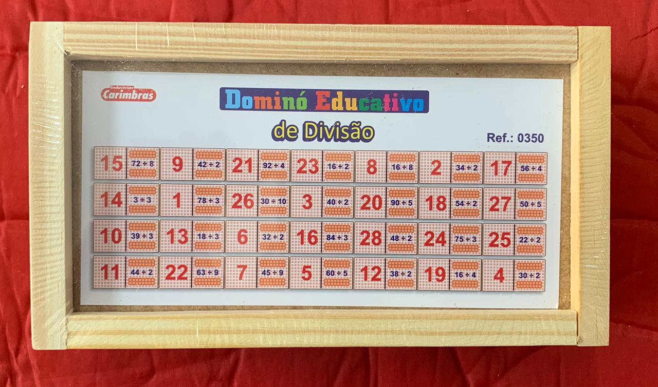 Dominó Divisão Jogo Educativo de Madeira