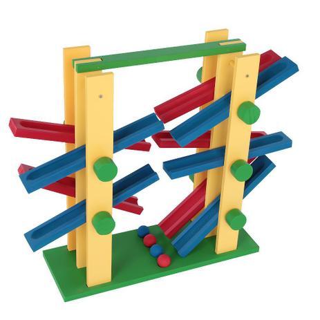 Equilibrando Bolinhas - 2x2 - 4 Bolinhas  Brinquedo de Madeira