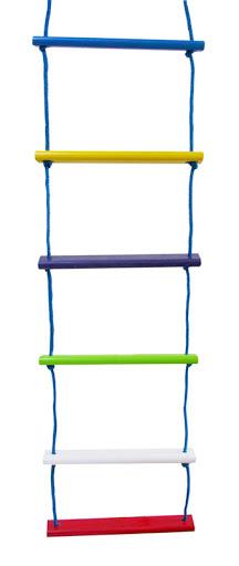 Escada de Corda Colorida Brinquedo de Madeira