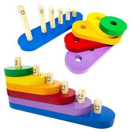 Escada Divertida Brinquedo Educativo de Madeira