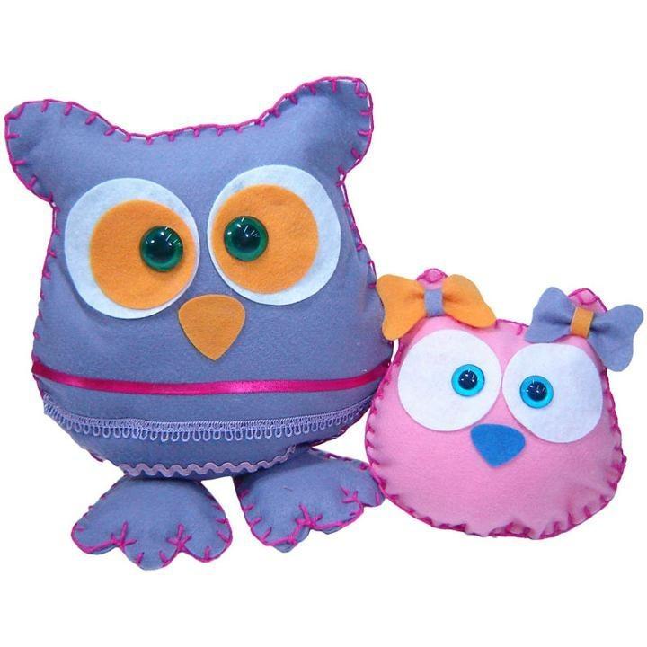 Faça e brinque Kit Feltros Corujas e Monstros