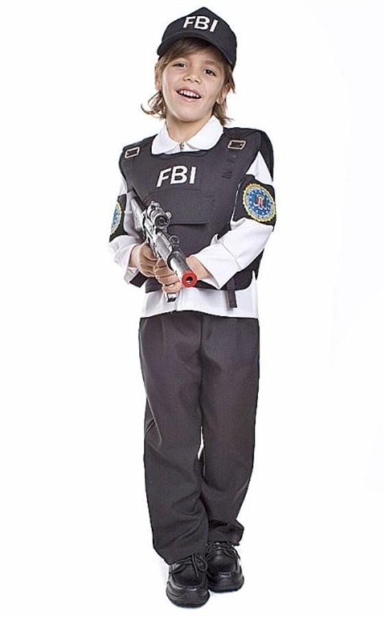 Fantasia Agente FBI Tamanho M de 4 a 6 anos