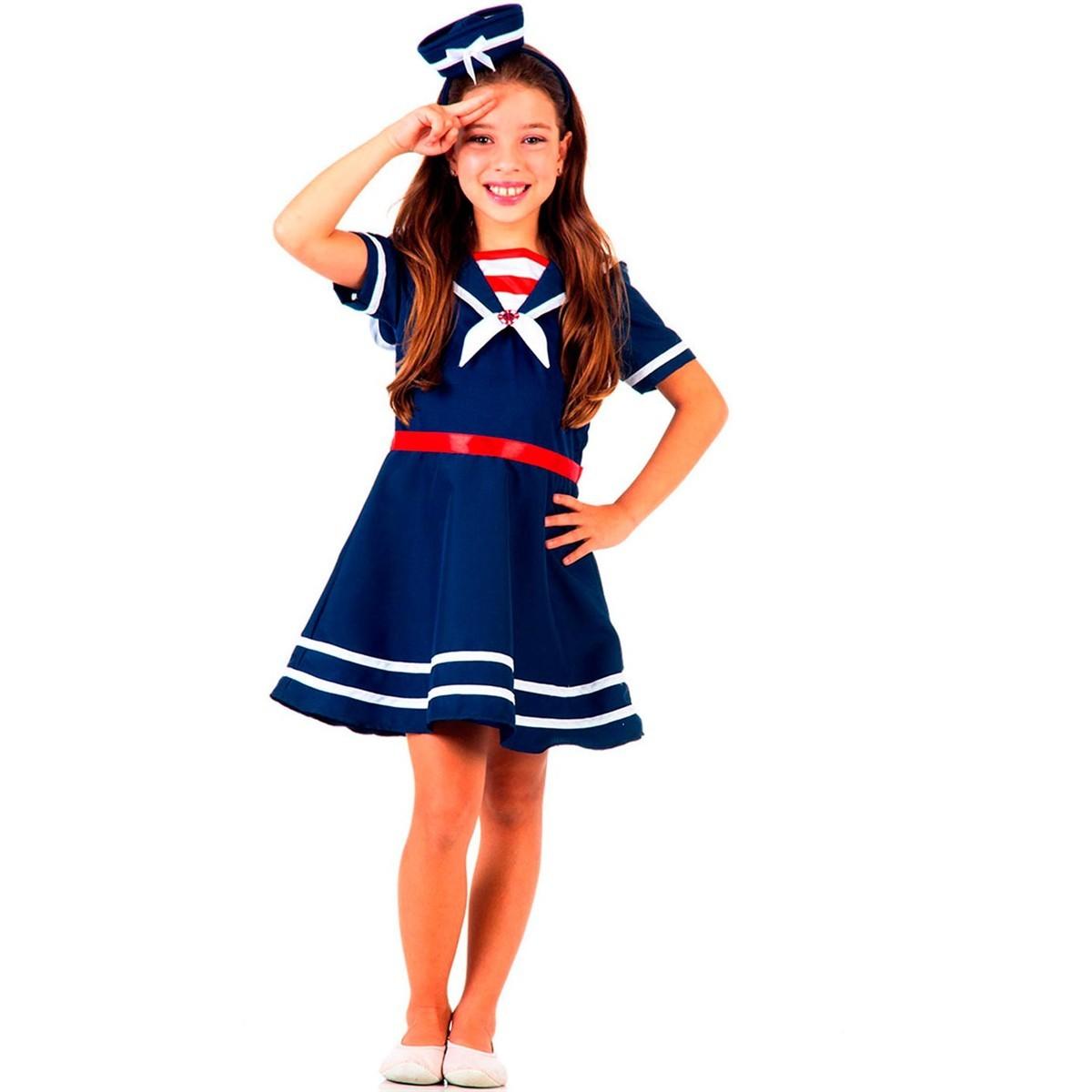 Fantasia Infantil Marinheira Tamanho G