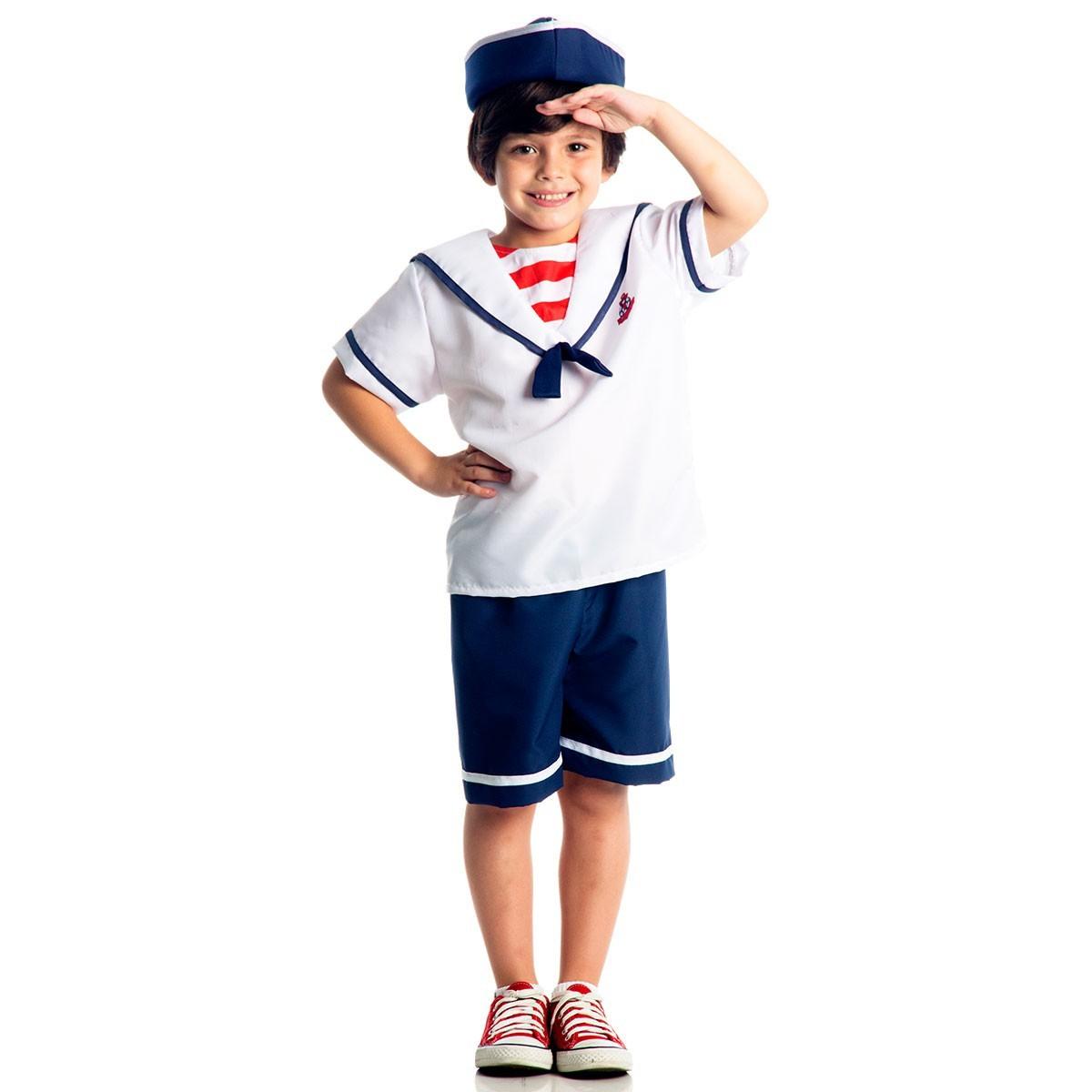 Fantasia Infantil Marinheiro Tamanho G