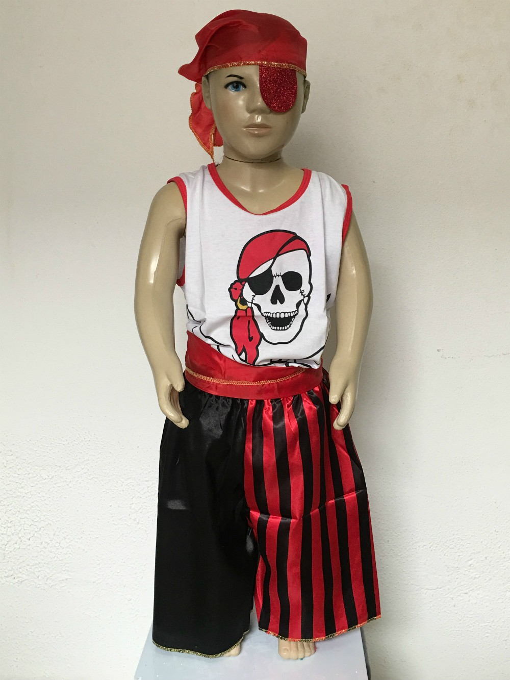 Fantasia Infantil Pirata Tamanho M