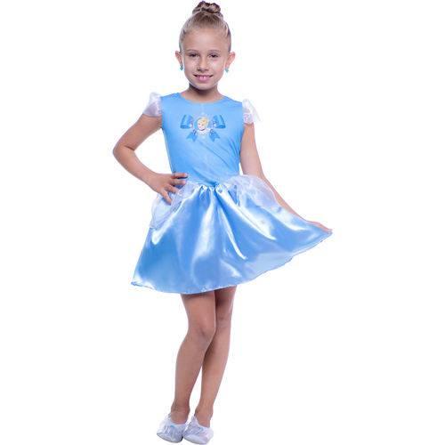 Fantasia Princesa Cinderela Pop Tamanho G