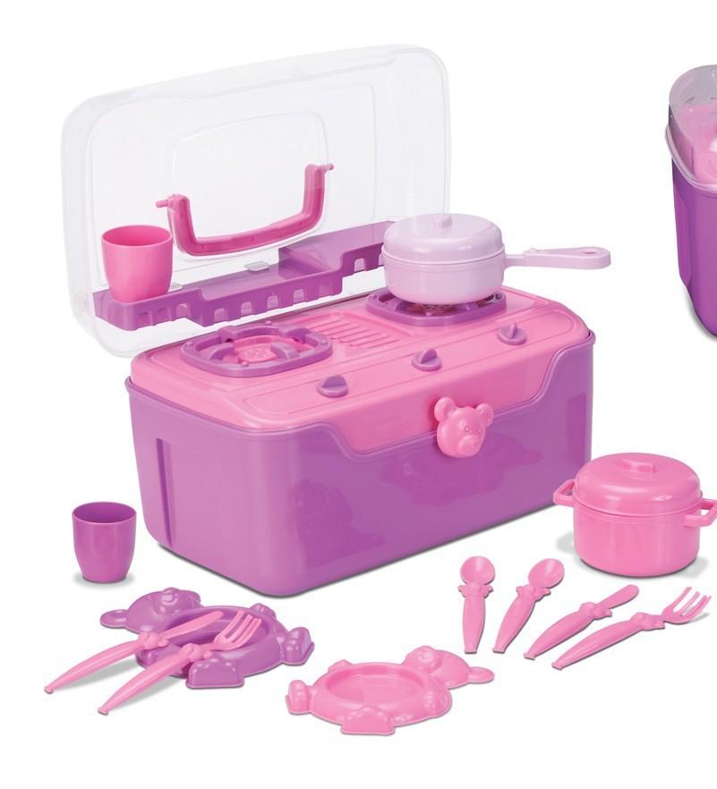 Fogão & Cia Maleta cozinha infantil portátil brinquedo educativo