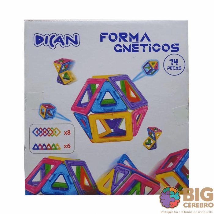 Forma Magnéticos 14 peças Brinquedo Educativo