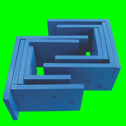Formas com Labirinto Brinquedo Educativo de Madeira