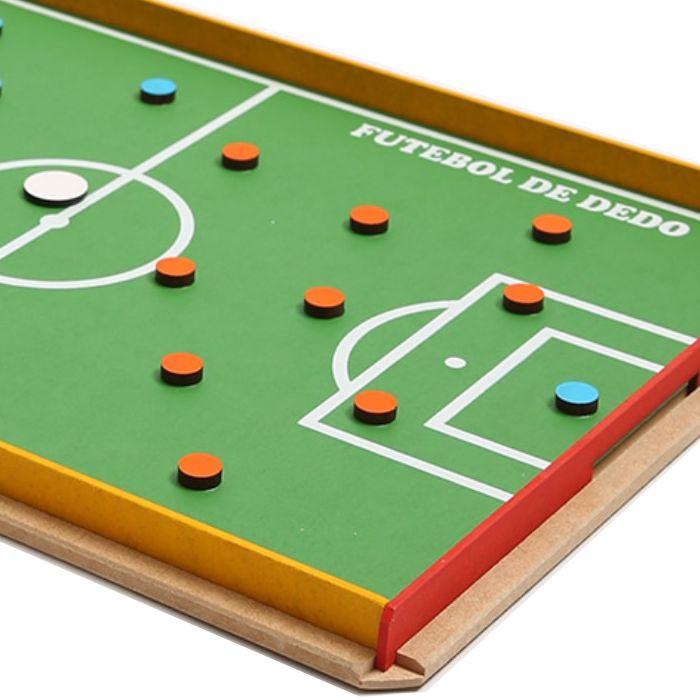 Futebol de Dedo Brinquedo Educativo de Madeira