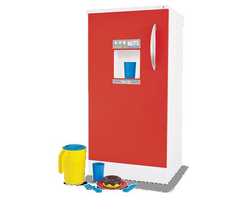 Geladeira de Madeira  Super Lux Vermelha para Casinha Infantil